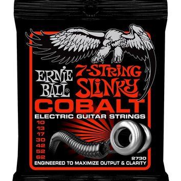 Ernie Ball Cobalt 7-String Skinny Top Heavy Bottom Slinky Set .010 - .062