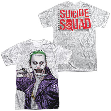Suicide Squad Joker Across The Throat Sublimated Mens T-Shirt