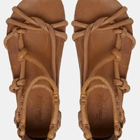 Free People Redlands Gladiator Footbed Leather Flat Sandal