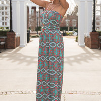 See It Through Maxi, Coral/Mint