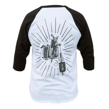 Men's Tattoo Machine Baseball Tee