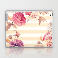 Pastel Flowers Laptop & iPad Skin by Printapix