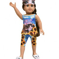 4 PC PHOTOREAL CAT SLEEP DOLL OUTFIT | GIRLS 18 INCH DOLL CLOTHES BEAUTY, ROOM & TOYS | SHOP JUSTICE