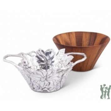 Arthur Court's Tall Magnolia Wood Salad Bowl Sku: 218M41 | Gifts for You 'n Me