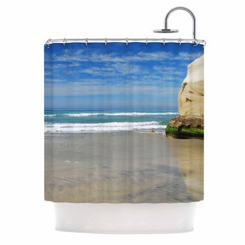 "Nick Nareshni ""Solana Beach Sands"" Nature Coastal Shower Curtain"