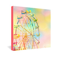 Shannon Clark Ferris Wheel Fun Gallery Wrapped Canvas