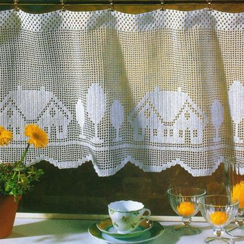 Curtain Sweet Home by LaisviakCrochet on Etsy