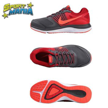 """Ready Stock"" NIKE DUAL FUSION X1 ""Grey&Red"" Men Sport Running shoes"