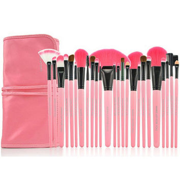Pink 24-Piece Essential Brush Collection
