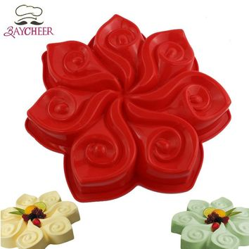 1PCS Non Stick Bakery Flower Shape Cake Decorating Tools Food-Grade Silicone Mold Baking Cake Pans Kitchen & Dining Supplies