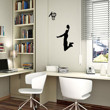 Vinyl Decals Make Basketball Player Sign Home Wall Art Decor Removable Stylish Sticker Mural L269 Unique Design for Nursery Baby Room