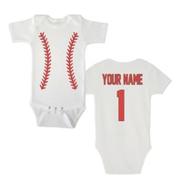 Personalized Baby Bodysuit - Baseball