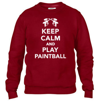 Keep calm and Play Paintball Crewneck sweatshirt