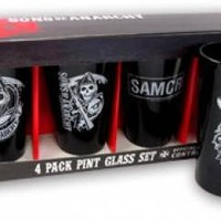 Sons Of Anarchy Pint Glasses - Reaper Logo Black