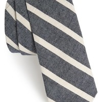Men's The Hill-Side Stripe Cotton & Linen Woven Tie