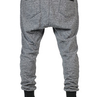 Two Tone Gray Drop Crotch Joggers
