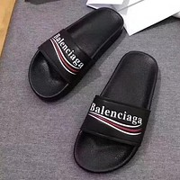 Balenciaga Women Leather Fashion Slipper Sandals Shoes