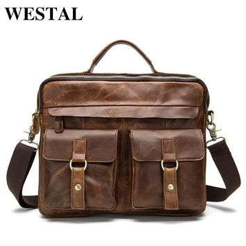Crossbody Bags Casual Totes Leather Handbags Messenger Laptop Bag
