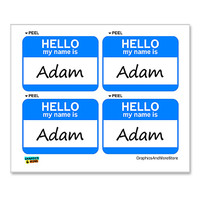 Adam Hello My Name Is - Sheet of 4 Stickers