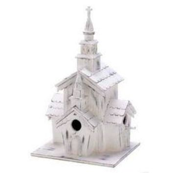 Little White Chapel Birdhouse (pack of 1 EA)
