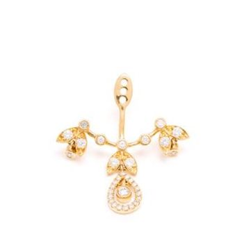 YVONNE LEON | 18k Gold and Diamond Feuilletis Lobe Earring | Browns fashion & designer clothes & clothing