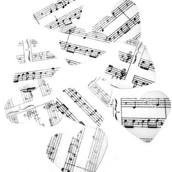 Music note heart confetti, sheet music heart cutouts for weddings, scrapbooking, and cardmaking