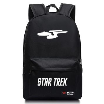 2016 Fashion backpack for teenagers Star trek Unisex School Bags Candy Color Mochila