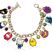 Adventure Time Charm Bracelet by KarinaMadeThis on Etsy