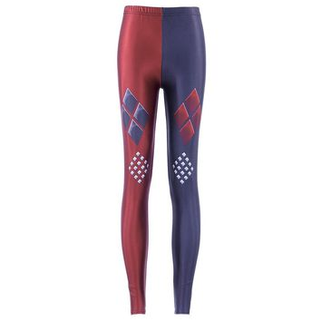 Harley Quinn Arkham Knight Leggings Batman Dr Quinn Costume Dc Joker Super Hero Cosplay Harlequin Costumes Leggins 3xl 4xl