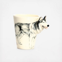 Siberian Husky Mug by Blue Witch Ceramics on Zola
