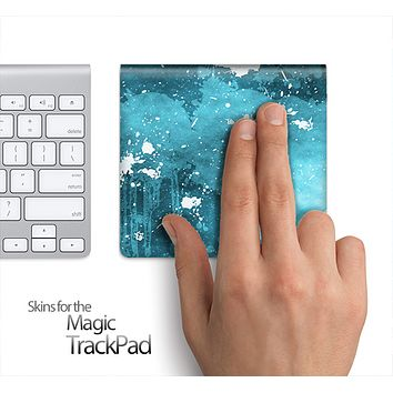 Blue Paint Splatter Skin for the Apple Magic Trackpad