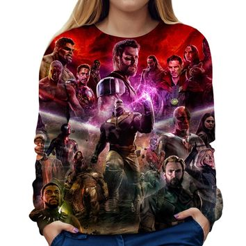 Infinity War Thanos Womens Sweatshirt
