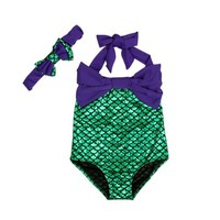 Alana Violet Bow Swimsuit