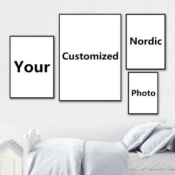 Nordic Style Wall Art Poster Customized Print Painting Custom Made 1 Pcs Canvas Abstract Pictures Home Decor Photo Framework