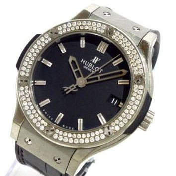 Auth HUBLOT Classique fusion H561.ZX.1170.LR.1104 Black 858592 Women's Watch