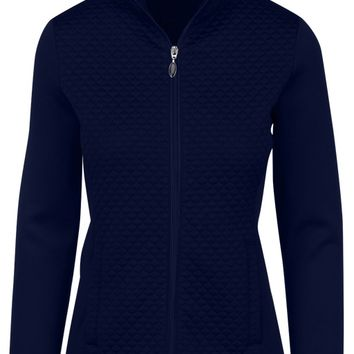 Greg Norman Ladies & Plus Size Jacquard Knit Golf Jackets - ESSENTIALS (Assorted Colors)