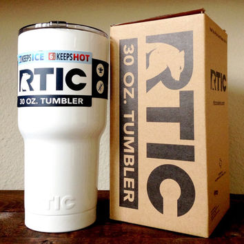 30 oz. RTIC Tumbler Custom Powder Coated Gloss White