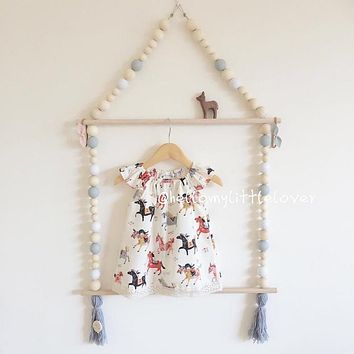 Wood hanger for baby kids cloth kids birthday Children'd day gift baby room cute decoration