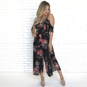 Through The Night Floral Jumpsuit
