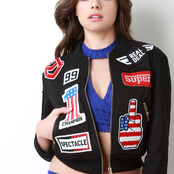 The Real Deal Racer Patch Jacket