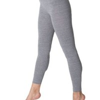 American Apparel Cotton Spandex Jersey Legging, Athletic Grey, Small
