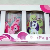 My Little Pony Drinking Glasses 8 oz. Set of 4 Cups