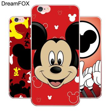 DREAMFOX L439 Mickey Mouse Minnie Soft TPU Silicone Case Cover For Apple iPhone XR XS Max 8 X 7 6 6S Plus 5 5S SE 5C 4 4S
