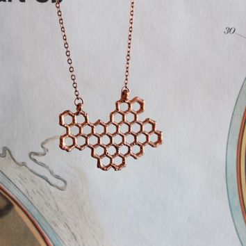 Copper Honeycomb Statement Piece