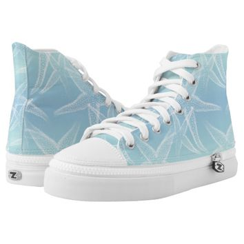 Starfish Aqua Blue Beach Shoes Printed Shoes
