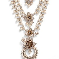 Marchesa Faux Pearl Multistrand Statement Necklace | Nordstrom