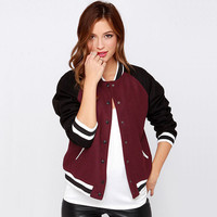 Sports On Sale Hot Deal Jacket Casual Patchwork Long Sleeve Baseball Coat [9022454084]