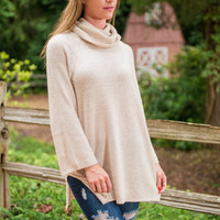 Winter Vacay Sweater Tunic, Oatmeal
