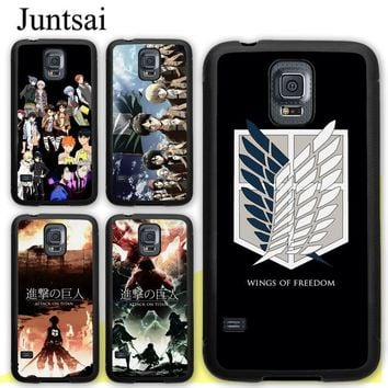 Cool Attack on Titan Juntsai  no  TPU Full Protect Cover For Samsung Galaxy S4 S5 S6 S7 Edge S8 S9 Plus Note 8 5 4 Case AT_90_11