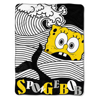 SpongeBob (Bob At Sea( Micro Raschel Blanket (46in x 60in)